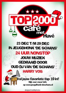 Top 2000 Café in Jeugdhonk de Schans